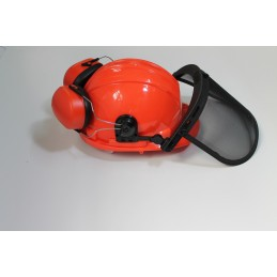 Veiligheidshelm met oor en...