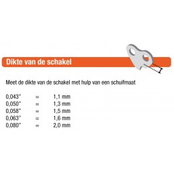 Hendel hoogteverstelling STIGA 1134-5215-01
